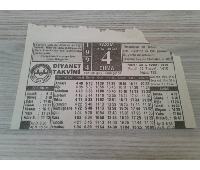 4 KASIM 1994