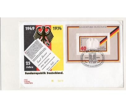 ALMANYA 1974 FDC 25.YIL BLOĞU SÜPER (18-24)