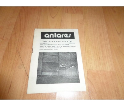 ANTARES BİLİM KURGU DERGİSİ NİSAN 1977