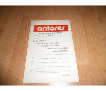 ANTARES BİLİM KURGU DERGİSİ ŞUBAT 1978