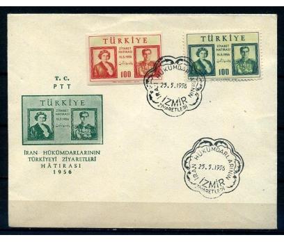 CUMH.FDC 1956 İRAN ŞAHININ İZMİR ZİY. SÜPER(18-21)