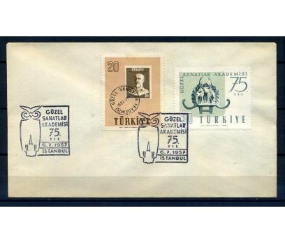 CUMH.FDC 1957 GÜZEL SANATLAR SÜPER (18-21)