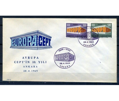 CUMH.FDC  1969 EUROPA CEPT SÜPER(18-21)