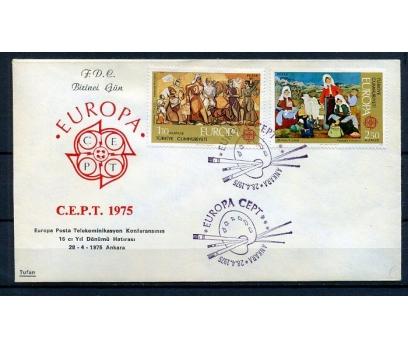 CUMH.FDC 1975 EUROPA CEPT TUFAN (18-21)