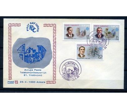 CUMH.FDC 1980 EUROPA CEPT FİLATELİ(18-21)