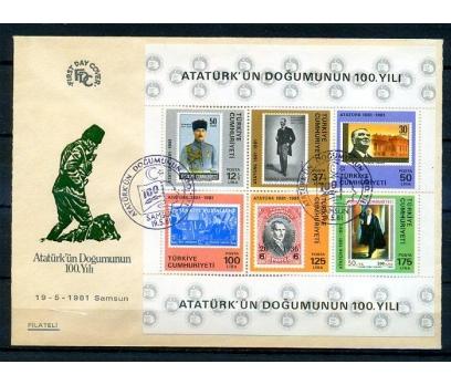 CUMH.FDC 1981 ATATÜRK'ÜN 100.D.Y.FİLATELİ (18-21)