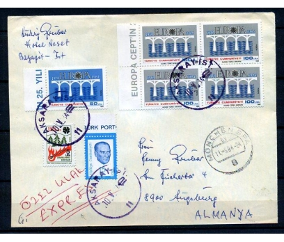 CUMH.PGTZ 1984 E.CEPT DBL PULUYLA ALMANYA(18-22)