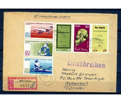 DDR 1968 SPOR & K.MARX TAM S.İST.'A PGTZ (18-22)