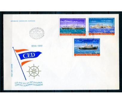 ROMANYA 1981 FDC GEMİLER SERİ VE BLOK SÜPER(18-5 ) 2