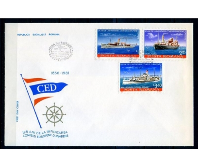 ROMANYA 1981 FDC GEMİLER SERİ VE BLOK SÜPER(18-5 ) 3