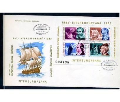 ROMANYA 1983 FDC SANATÇILAR 2 ZARFTA SÜPER (18-5 ) 2 2x