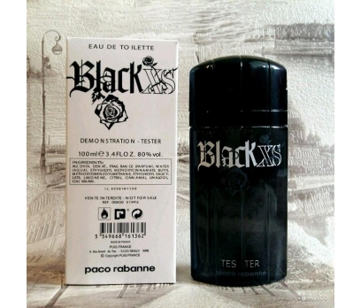 TESTER PACO RABANNE BLACK XS MEN EDT 100 ML