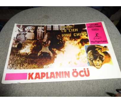 THE TIGER LOVE KAPLANIN ÖCÜ KARETE FİLM LOBİ KARTI