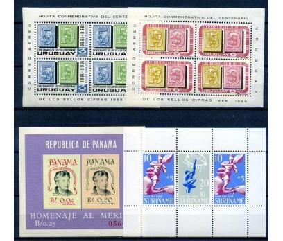 URUGUAY-PANAMA-SURİNAM ** 4 BLOK SÜPER (18-3)