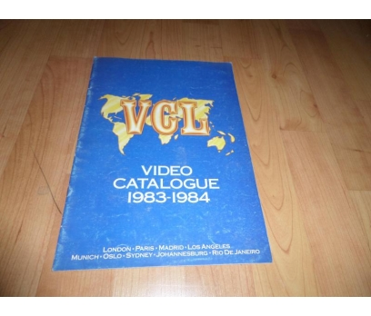 VCL VIDEO CATALOGUE 1983-1984 FİLM BROŞÜR