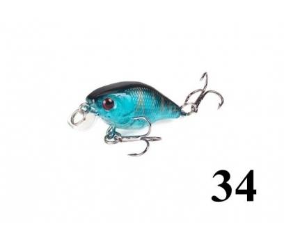 34 Kasna balık avlarına 4.5 cm Crankbait yem