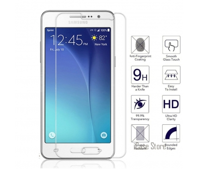 Samsung Galaxy Grand Prime SM-G530H, SM-G530F Temperli Kırılmaz Cam Şeffaf Gerçek Temperli Cam