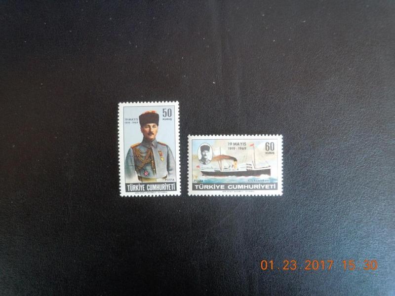 1969 ATA SAMSUNA ÇIK. 50. YILI TAM SERİ (MNH) 1