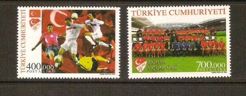2002 Dünya Kupası Şamp. Üçüncüsü Türkiye  (MNH) 1