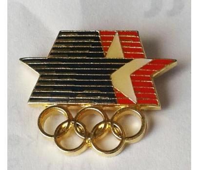 1984 LOS ANGELES OLİMPİYAT AMBLEMİ ROZET. NADİR