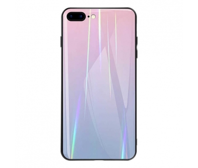 iPhone 8 Plus Friz Cam Desenli Silikon Kılıf Pembe + Nano Ekran Koruyucu