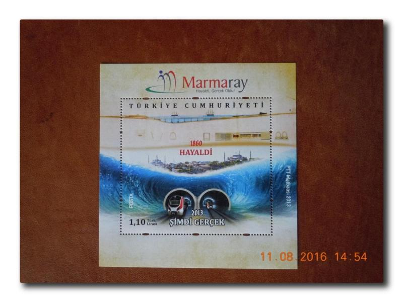 2013 MARMARAY HAYALDİ GERÇEK OLDU BLOK-120  (MNH) 1