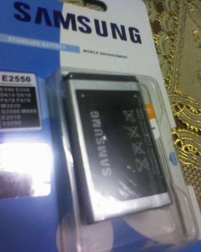 SAMSUNG E2550,M3510,S3500 %100 JAPAN BATARYA 1