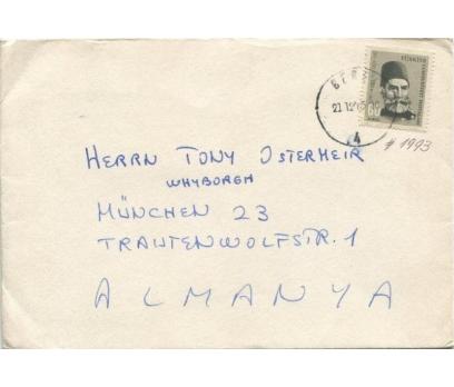 1964 TÜRK MEŞHURLARI GAZİ MUHTAR PAŞA PULLU ZARF
