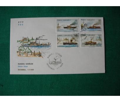 1989 Buharlı Gemiler  F.D.C.
