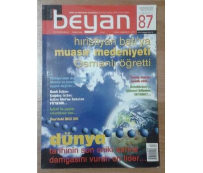 BEYAN DERGİSİ - TEMMUZ 2006 SAYI: 87