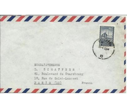 1952 VİYANA İST. YENİCAMİ PULLU ZARF 1