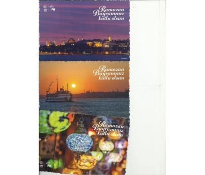 2017 PTT RAMAZAN BAYRAMI  TEBRİK KARTLARI 12 ADET 3
