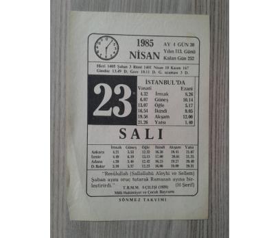 23 Nisan 1985 Salı-Takvim Yaprağı