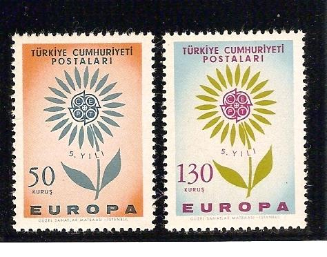 1964  AVRUPA CEPT TAM SERİ (MNH) 1