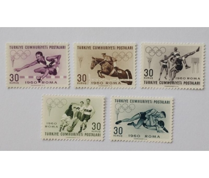 1960 ROMA YAZ OLİMPİYATLARI TAM SERİ (MNH)