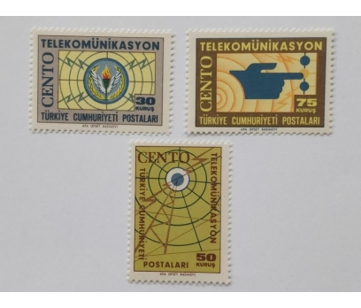 1965 CENTO TELEKOMİNİKASYON TAM SERİ (MNH)