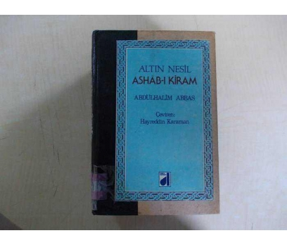 ALTIN NESİL ASHAB-I KİRAM ABDÜLHALİM ABBAS 1