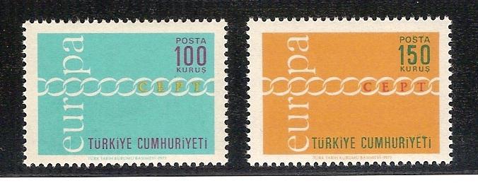 1971 Avrupa-CEPT tam seri (MNH) 1