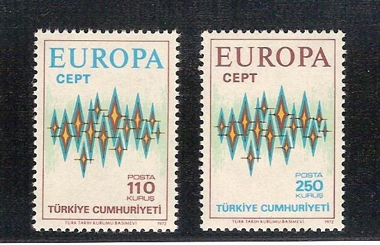 1972 Avrupa-CEPT tam seri (MNH) 1