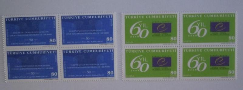2009 Avrupa Kons. 60. yılı dörtlü blok (MNH) 1