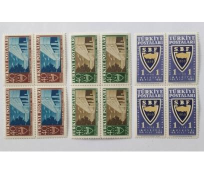 1959 SİYASAL BİLGİLER F. 100. YIL DÖRTLÜ BL. (MNH)