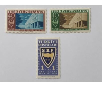 1959 SİYASAL BİLGİLER FAK. 100. YIL TAM SERİ (MNH)