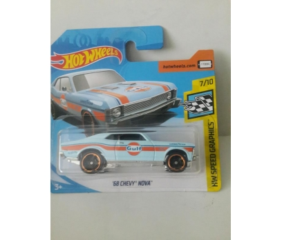 '68 CHEVY NOVA / 1:64 ÖLÇEK (7CM) /  Hot Wheels