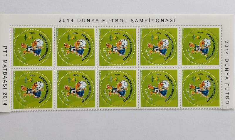 2014 FIFA DÜNYA KUPASI 10 LU BL. Toplat. s. (MNH) 4