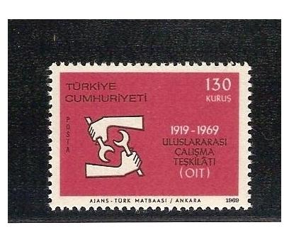 1969 UL. ÇALIŞMA TEŞ.  50. YILI TAM SERİ (MNH) 1