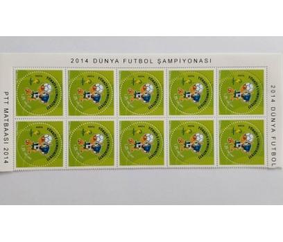 2014 FIFA DÜNYA KUPASI 10 LU BL. Toplat. s. (MNH) 4 2x