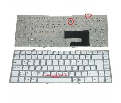 Sony Vaio VGN-FW52TF Klavye Tuş Takımı Tuş Seti Q Beyaz Türkçe 1