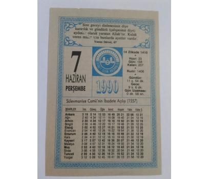 12 HAZİRAN 1993 CUMARTESİ TAKVİM YAPRAĞI