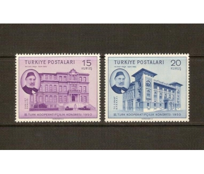 1950 T. KOOPERATİF. KONGRESİ TAM SERİ (MNH)
