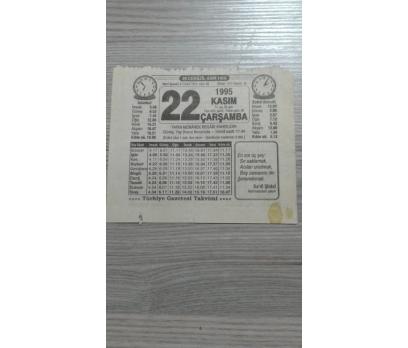 22 Kasım 1995 Çarşamba Takvim Yaprağı